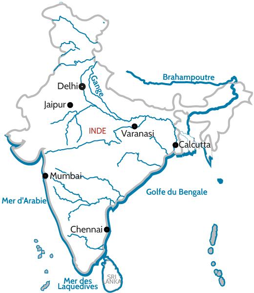 Carte Inde Fleuve
