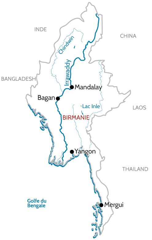Nouveau Croisière fluviale sur l'Irrawaddy, en Birmanie   Fleuves du Monde KG-06